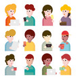 collection flat design set portraits avatars vector image vector image