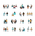 Coworking Space Icons Set vector image vector image