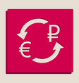 currency exchange sign euro and russia ruble vector image vector image