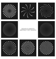 Dot shapes set vector image vector image