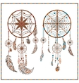 Dream catcher ethnic ornament spider web beads vector image vector image