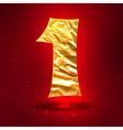 figure 1 made golden crumpled foil vector image vector image