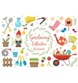 Gardening icons set design elements Garden tools vector image vector image