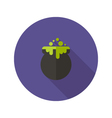 halloween witch pot flat icon vector image