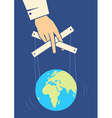 Hand controls the Earth vector image vector image