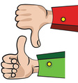hand gesture like or unlike vector image vector image