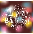 Happy Birthday 4 vector image vector image
