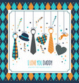 happy fathers day symbol of dad vector image vector image
