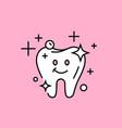 healthy clean tooth icon vector image vector image