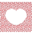 heart shaped maze vector image vector image