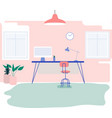 home work station vector image vector image
