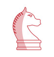 horse chess piece vector image vector image