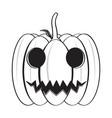 isolated happy halloween pumpkin icon vector image