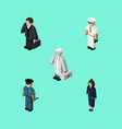 isometric people set of seaman businesswoman vector image vector image