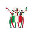 italian flag italy people vector image