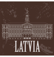 Latvia landmarks Retro styled image vector image vector image
