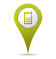location mobil phone icon vector image vector image