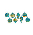 luxury xmas bauble set vector image
