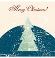 Merry Christmas grunge tree background vector image vector image