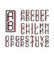 monogram art nouveau and a set letters vector image