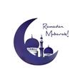 Mosque and moon ramadan symbol vector image vector image