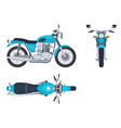 motorbike side and top view motorcycle motocross vector image