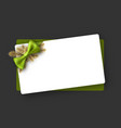 new year background with green bow vector image vector image