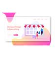 online application for shopping website landing vector image vector image