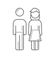 parents line icon vector image vector image