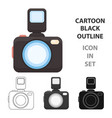 photo camera icon of for web vector image vector image