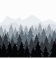 pine forest seamless background pattern abstract vector image