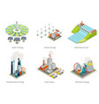 Power plant icons Electricity generation plants vector image vector image
