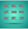 Racing background set collection of 9 checkered