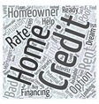 Rent To Own Word Cloud Concept vector image vector image
