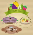 Restaurant Labels Set vector image vector image
