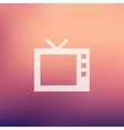 Retro television in flat style icon vector image