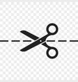 scissors cutting line icon vector image vector image