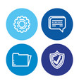 security system technology icons vector image