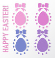 Set Easter egg with bow vector image vector image