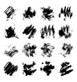 set of black ink stains vector image vector image
