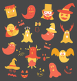 Set of monster halloween vector image