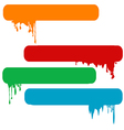 Set of splash color paint banners vector image vector image