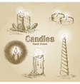 set vintage candle vector image vector image