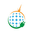 sign solar alternative renewable energy logo vector image vector image