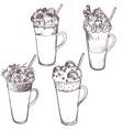 sketch milkshakes vector image