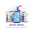 social media modern collection marketing design vector image vector image