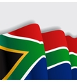 South African waving Flag vector image vector image