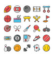 sports and games flat icons set 1 vector image