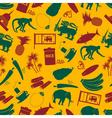 Sri-lanka country symbols color seamless pattern vector image vector image