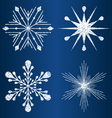 textured snowflakes 4 vector image vector image